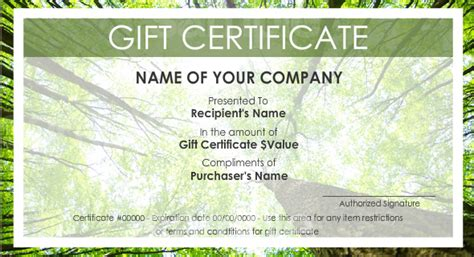 Make Your Own Gift Certificate Template by Print Your Own Gift Certificates Using Easy Templates