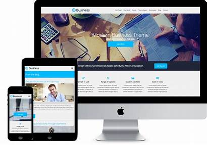 Business Wordpress Themes Templates Theme Modern Mockups