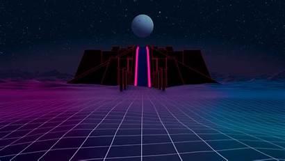 Wallpapers Synthwave 80s Retro Axiom Background Ziggurat