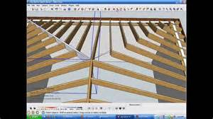 harmonious square hip roof model and measure hip rafters de mystified by modeling in
