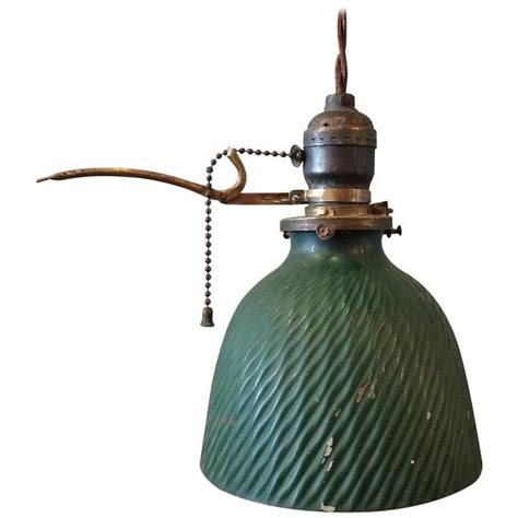 green x mercury glass pendant light with