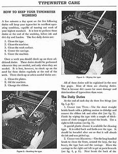Basic Typewriter Care And Maintenance