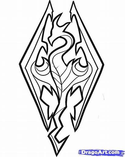 Skyrim Sketch Tribal Coloring