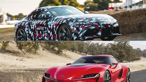 visual comparison   toyota supra   toyota ft