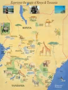 Kenya Tanzania Safari Map