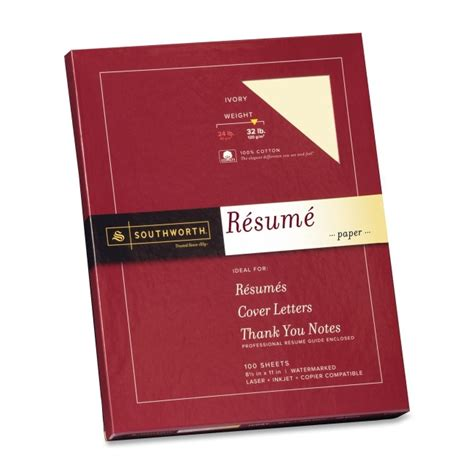 Is Ivory Resume Paper Ok by Resume Paper Wove 32 Lb 8 1 2 X11 100 Bx Ivory Sourd18icf Stationery Cards Stationery