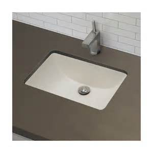 decolav classic rectangular undermount bathroom sink with
