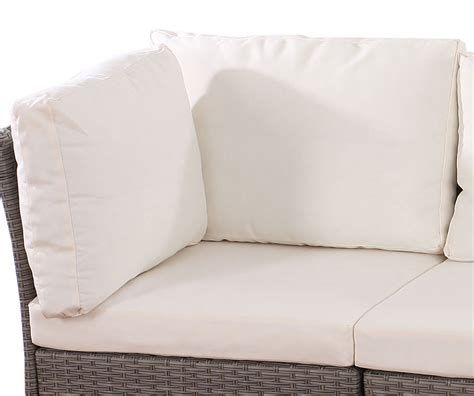 grand coussin de canap sitz rücken und zierkissen für poly rattan sofa siena