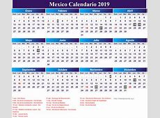 Mexico Calendario 2019 newspicturesxyz