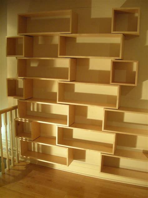 Wall Hung Bookshelf by Custom Made Modern Wall Hung Library Open Shelving