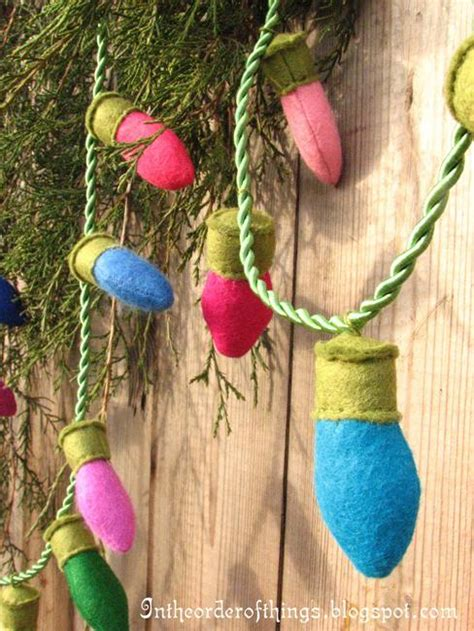 craft ideas  handmade garlands recycling felt pieces
