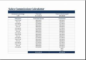 sales commission and costing calculators templates excel With commission payout template