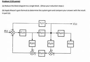 Solved  In  A  Reduce The Block Diagram To A Single Block