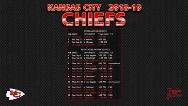 kansas city chiefs wallpaper schedule