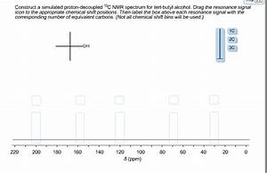 Solved: Construct A Simulated Proton-decoupled 13C NMR Spe ...