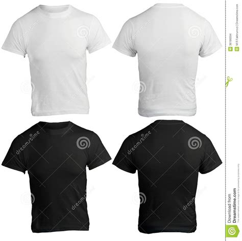mens blank black  white shirt template stock photo