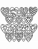 Coloring Hearts Pages Pattern Heart Adults Printable Rocks Sheets Easy Valentine Supercoloring Shape Drawing Flower Games sketch template