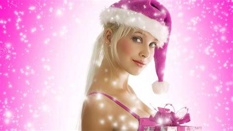 christmas girls santa claus girls wallpaper