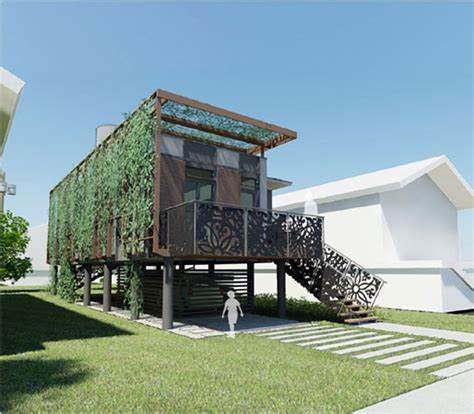 green architecture house plans sustainable homes for katrina victims from brad pitt