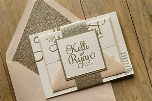 blush and gold glitter elegant wedding invitations elegant With elegant wedding invitations tumblr