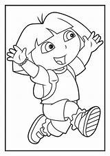 Dora Coloring Explorer Pages Sheets Diego Colouring Games Printable Template Happy Books Drawn Hand Worksheets Discover sketch template