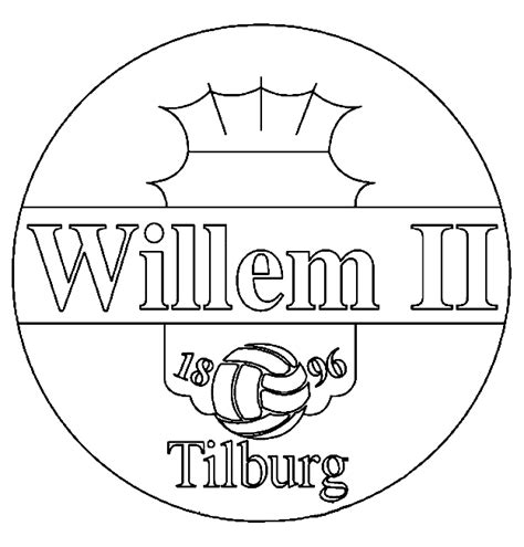 Psv Logo Kleurplaat by Eredivisie Logo Kleurplaten Willem Ii