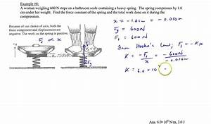 Chapter 6  Example  8  Work Done By A Spring Scale