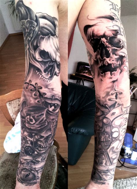 kompletter arm tat frank totenkopp arm tattoos bewertung de