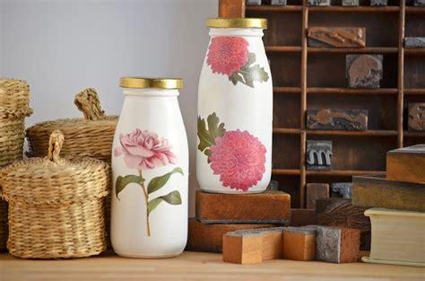 shades  pink decoupage milk bottles kit  darby