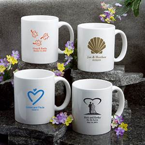 48 personalized coffee mug wedding bridal shower favors With coffee mug wedding favors