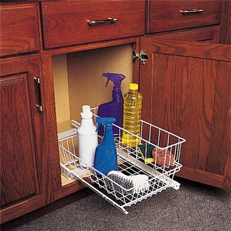 pull out baskets kitchen cabinets pull out undersink basket white richelieu hardware 7596