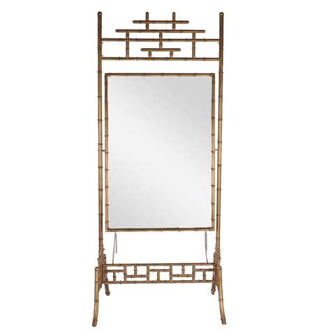 gilded floor mirror regency gold gilded faux bamboo chinese chippendale cheval floor mirror for sale at 1stdibs
