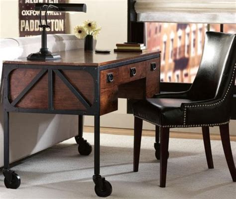 industrial style home office desk industrial empire desk eclectic desks and hutches by