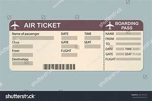 Pics For > Blank Air Ticket