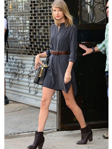 Taylor Swift Flaunts a Violet Bomber and Dress in NYC ...