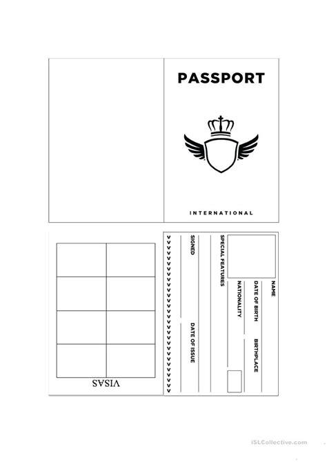 Passport Template Passport Template For Printable