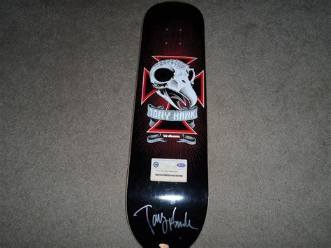 Tony Hawk Signed Skate Deck by Tony Hawk Autographed Birdhouse Skateboard Steiner Skull 2
