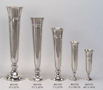 wholesale silver polished aluminum  nickel vases