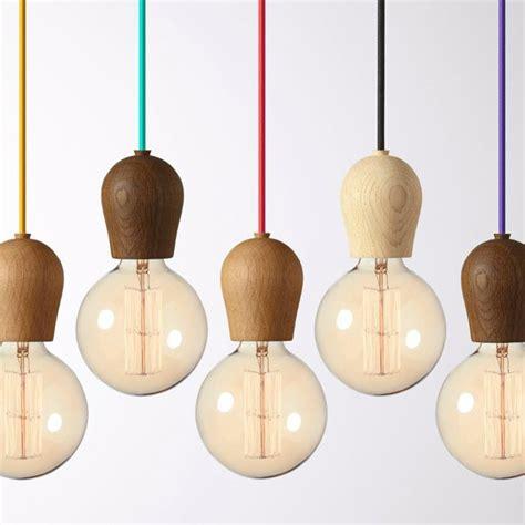 modern oak wood pendant lights vintage cord pendant l