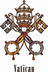 Vatican heraldic keys state official symbol on flag and ...