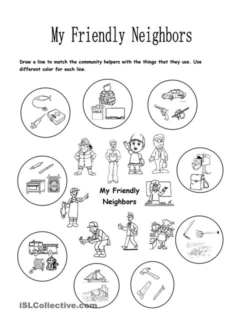 preschool worksheet community helpers 122495 myscres