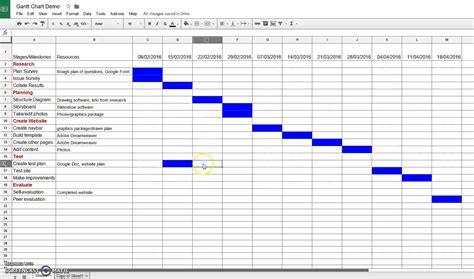 gantt chart google sheets creating a gantt chart in sheets