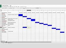 Creating a Gantt Chart in Google Sheets YouTube