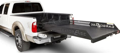 Diamond Plate Bed Rails by Cargo Ease Full Extension Cargo Slide