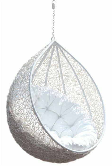 Hanging Chair Rattan Egg White Half Teardrop Wicker