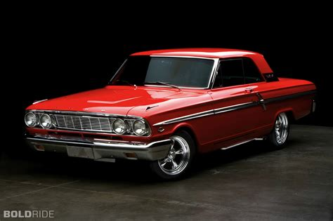 1964 Ford Fairlane 500 Red Hot Rod Muscle Cars Classic