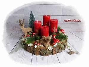 Deko Für Adventskranz : adventskranz adventskranz adventsgesteck auf holzscheibe ein designerst ck von ~ Buech-reservation.com Haus und Dekorationen