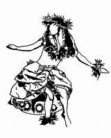 Hula Hawaiian Coloring Dance Drawing Performing Lei Tattoo Dancing Aloha Coloringsky Drawings Polynesian Sheets Sheet Colouring Tiki Island Printable Tattoos sketch template