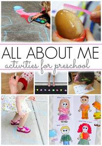 activities for all about me theme pre k pages