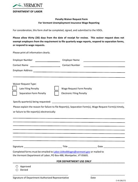 The irs will not waive the penalty on the phone. Form C-45 Download Fillable PDF or Fill Online Penalty ...